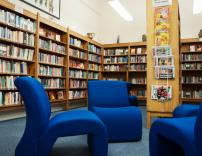 School Library, with reading chairs