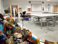 Art classroom, in the newly built Centre for Creative and Expressive Arts