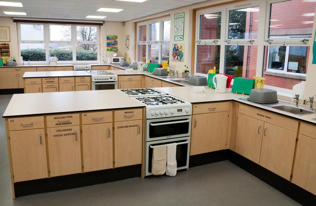 Cookery room in the Technology block